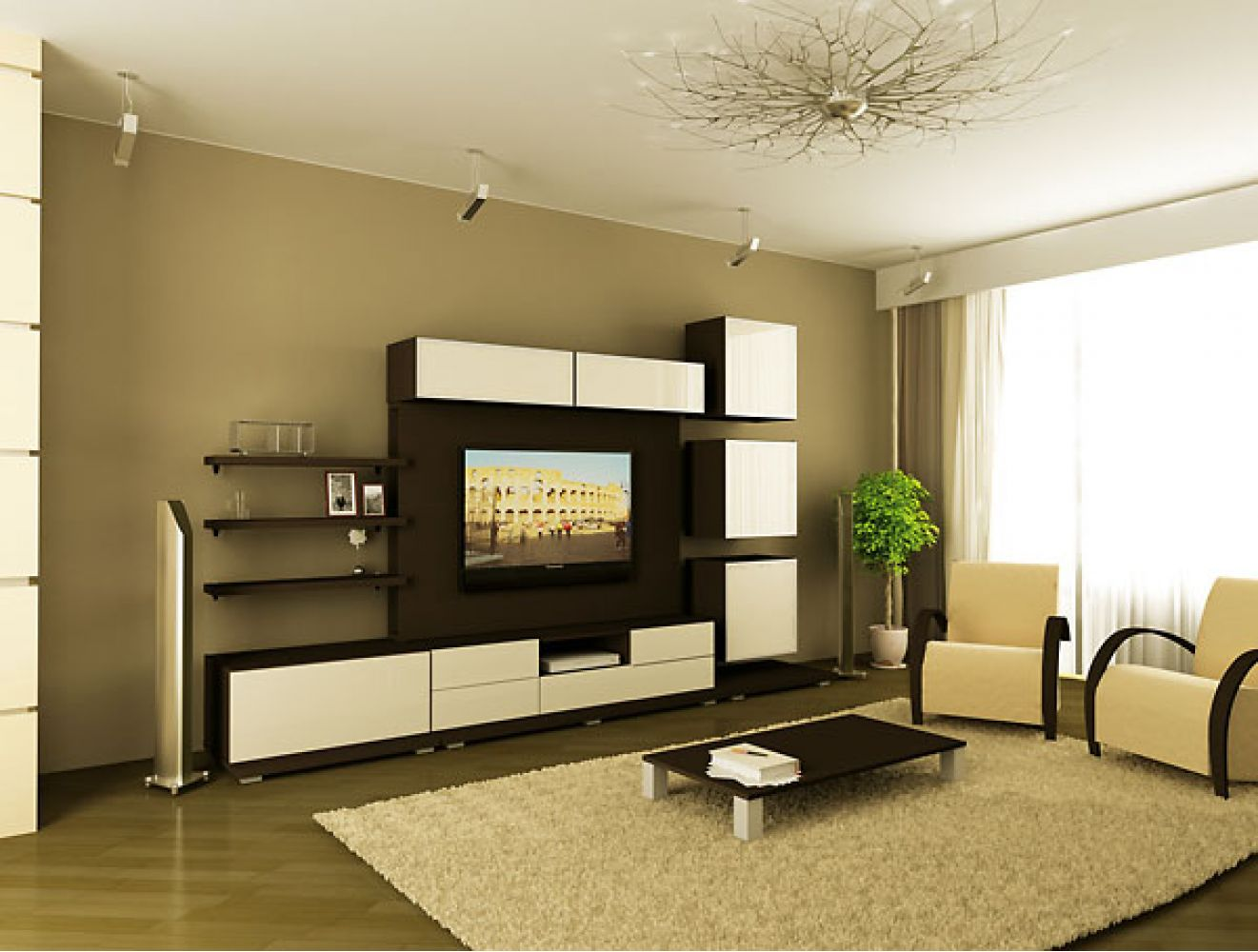 Дизайн гостиной с горкой